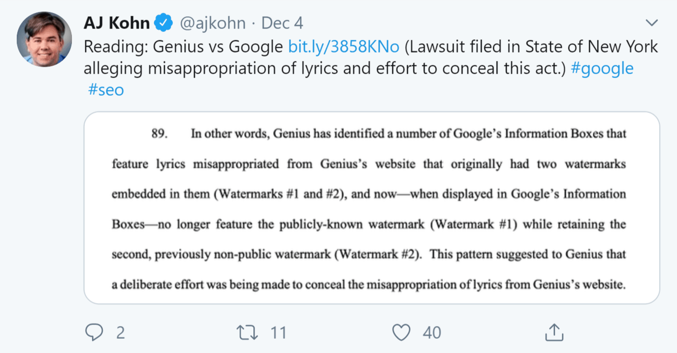 Kohn-Genius-Google-Tweet