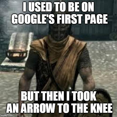SEO-strategy-arrow-to-the-knee